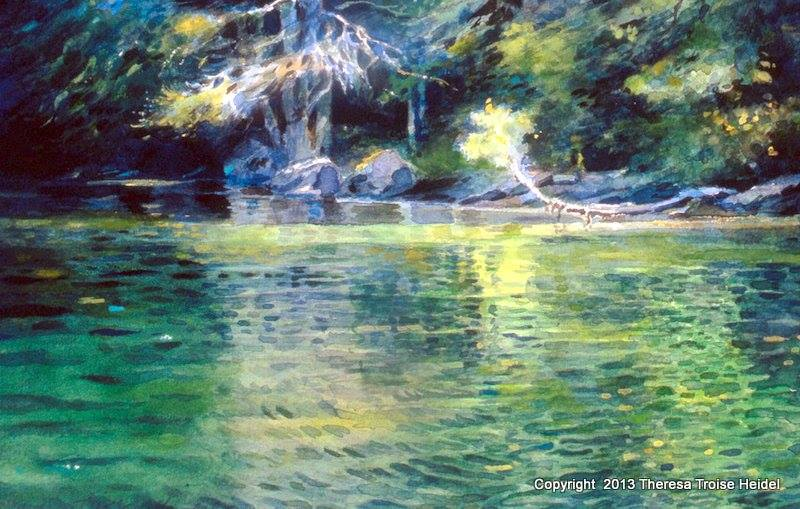 Emerald-Reflection Lake-George-Sold