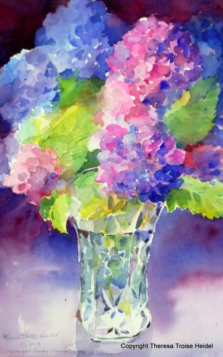 Hydrangeas-Painted-from-Life-New-Watercolors