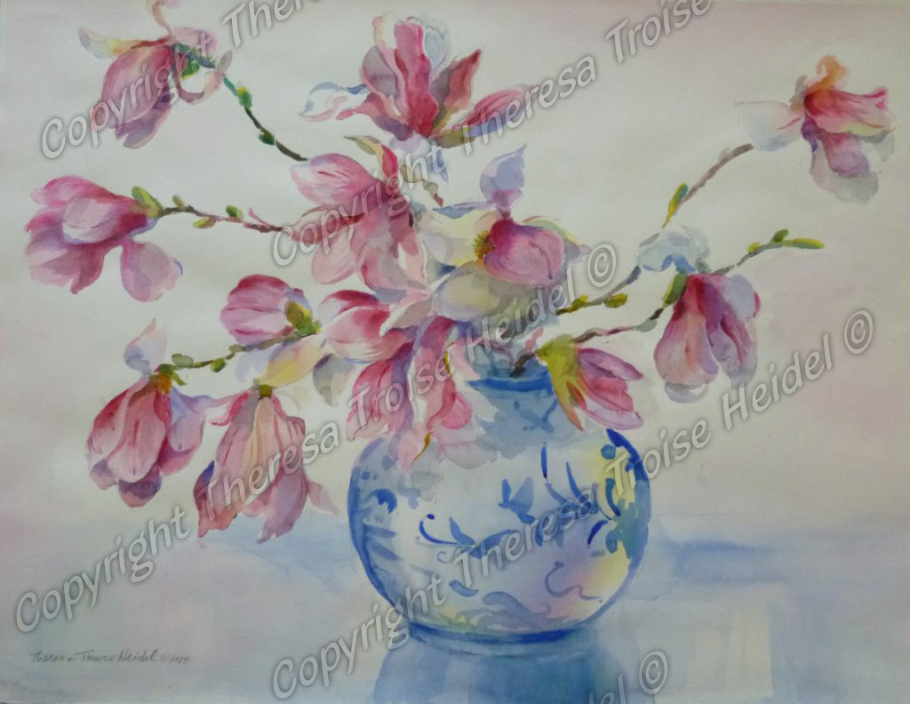Magnolias-Painted-from-Life