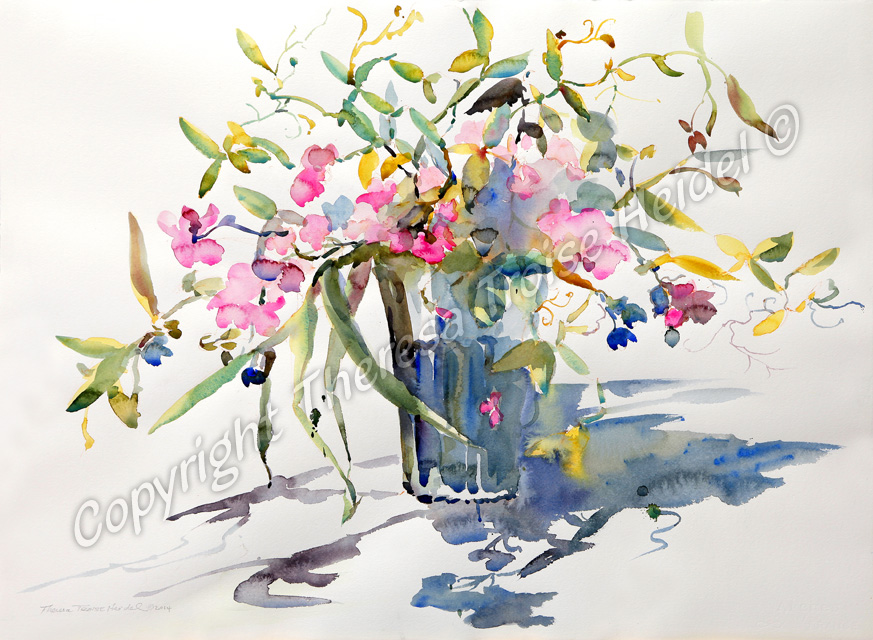 Sweet-Peas-painted-from-Life-New-Florals