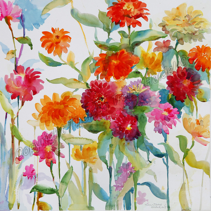 Zinnias-Painted-form-Life-II-New-Florals