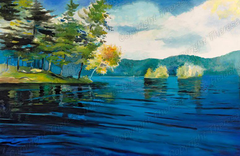 Looking-Past-Phantom-Island-Lake-George