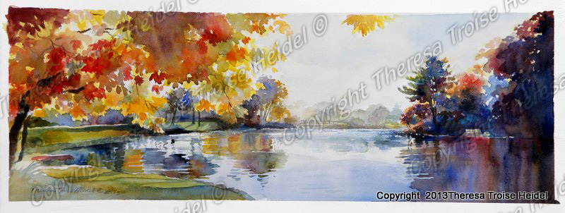 Autumn-Reflections-Spring-Lake-Sold