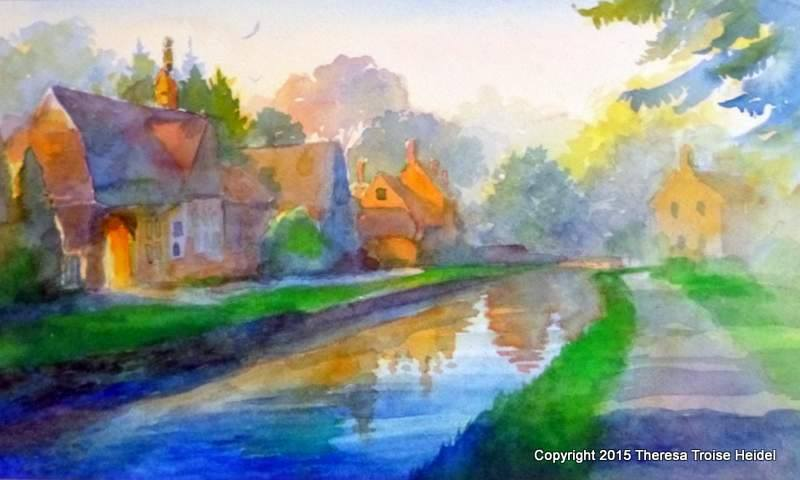 Morning Light in Lower Slaughter, the Cotswolds, UK
