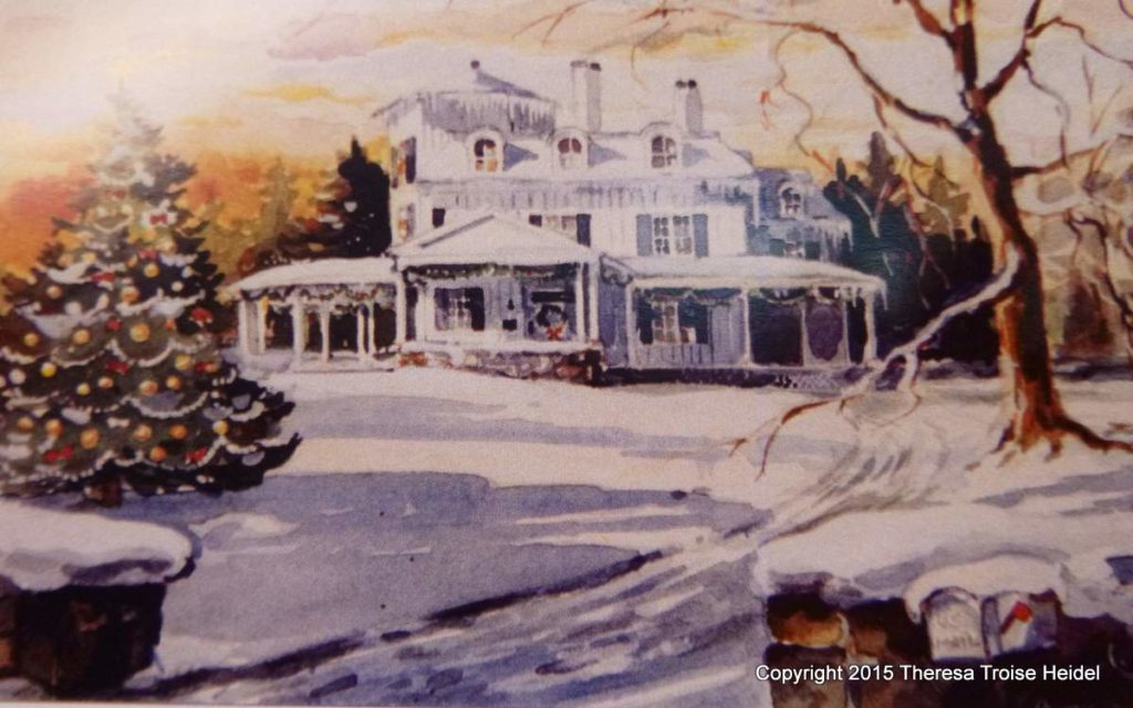 Windfields Estate at Christmas, Garrison, NY
