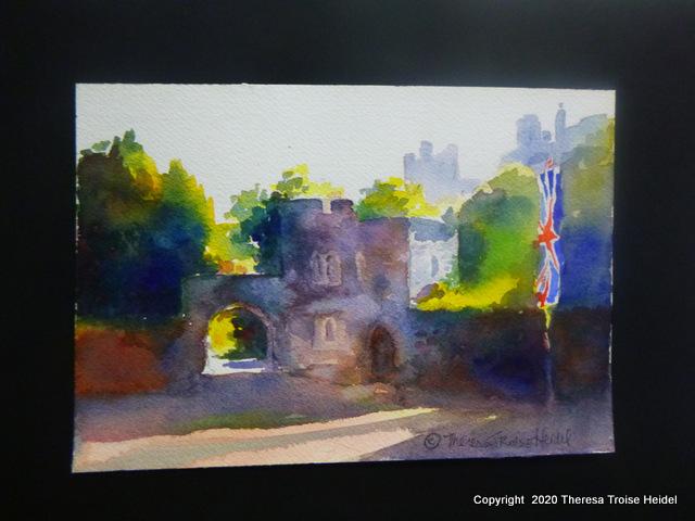 """Gateway, Windsor Castle, UK , unmatted, 7""""H x 10""""W"""