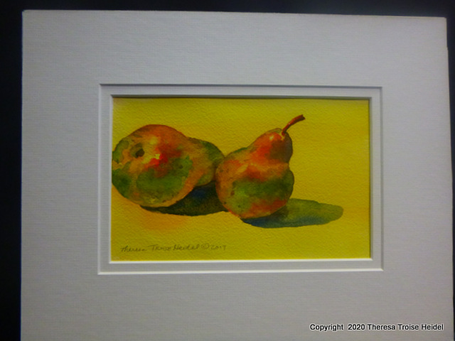 "Pears, painted from Life , with mat, 10"" x 13"""