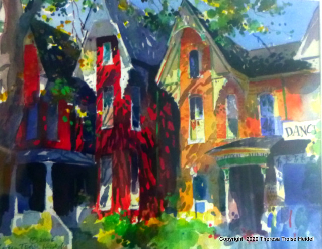 """Toronto Trio, matted,17 and 1/2"""" H x 21""""W"""